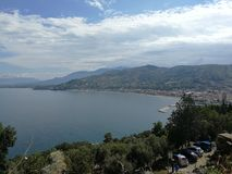 Agropoli - Panorama from the Aragonese castle. Agropoli, Salerno, Campania, Italy - June 29, 2018: Panoramic view from the terrace of the Aragonese castle Royalty Free Stock Image