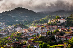 Agros village on top of the Troodos Mountains. Limassol District Royalty Free Stock Image