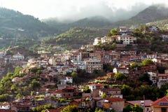 Agros, wioska na Troodos górach w regionie jam, Zdjęcia Royalty Free