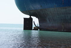 Aground. Oil tanker aground. The Black Sea stock image