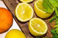 Agrume e frutti: primo piano Fotografia Stock Libera da Diritti