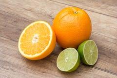 Agrumes d'orange et de chaux Photos libres de droits