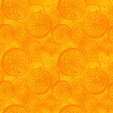 Agrumes tirés par la main d'orange ou de citron Patt sans couture de papier peint Image libre de droits