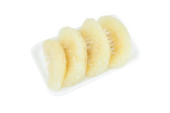 Agrumi del pomelo su schiuma isolata su bianco Immagini Stock Libere da Diritti