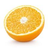 Agrumi a metà arancio isolati su bianco Fotografia Stock Libera da Diritti