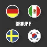 Agrupa campeonato del mundo del fútbol en Rusia Imagen de archivo libre de regalías