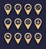 Agrupe ícones do pictograma do negócio para o projeto seu Web site Imagens de Stock