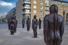 Agrupe la escultura en el arsenal de Woolwich de Peter Burke foto de archivo libre de regalías