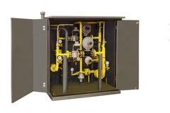 Agrupe las válvulas del cierre y de control para el control del flujo del gas a la empresa Foto de archivo
