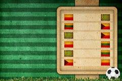 Agrupe o estágio no futebol 2012 - agrupe A Imagem de Stock Royalty Free