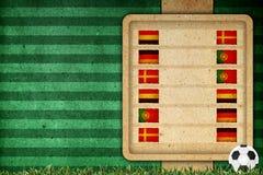 Agrupe o estágio no futebol 2012 - agrupe B Foto de Stock