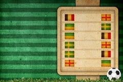 Agrupe o estágio no futebol 2012 - agrupe D Fotografia de Stock