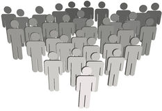 Agrupe povos do símbolo da população 3D da companhia no branco Fotos de Stock Royalty Free