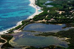 Agrustos plaża Zdjęcia Royalty Free