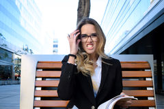 Agry business woman. Stock Image