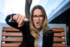 Agry business woman screaming. Stock Photography