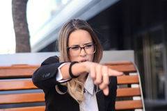 Agry business woman screaming. Stock Image