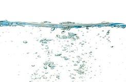 Agua aislada sobre blanco Fotografía de archivo libre de regalías