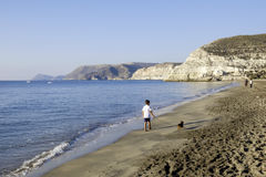 Agua amarga, cabo de Gata, Andalusia, Spain, Europe plaża Fotografia Royalty Free