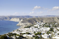 Agua amarga, cabo de Gata, Andalusia, Spain, Europe, widzieć od above Obrazy Stock