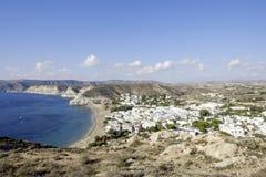 Agua amarga, cabo de Gata, Andalusia, Spain, Europe, widzieć od above Zdjęcia Royalty Free