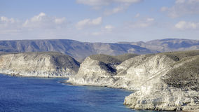 Agua amarga, cabo de Gata, Andalusia, Spain, Europe, widzieć od above Zdjęcia Stock