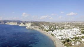 Agua amarga, cabo de Gata, Andalusia, Spain, Europe, widzieć od above Fotografia Royalty Free