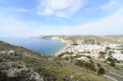 Agua Amarga, a traditional Andalusian village in Almeria Stock Photos