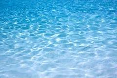 Agua azul brillante Imágenes de archivo libres de regalías