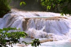 Agua azul cascades II. Agua Azul Waterfall near palenque, mexican state of chiapas royalty free stock image