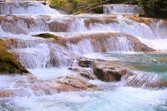 Agua azul cascades IV. Agua Azul Waterfall near palenque, mexican state of chiapas stock photos