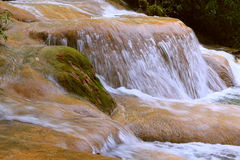 Agua azul cascades VIII. Agua Azul Waterfall near palenque, mexican state of chiapas royalty free stock photos
