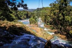 Agua Azul, Chiapas, Mexico Fotografering för Bildbyråer