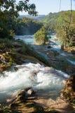 Agua Azul, Meksyk Zdjęcia Royalty Free