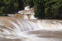 Agua Azul siklawa, Chiapas, Meksyk Fotografia Stock