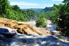 Agua Azul siklawa, Chiapas, Meksyk Zdjęcie Stock