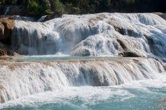 Agua Azul siklawy, Chiapas, Meksyk Fotografia Stock