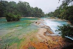 Agua Azul siklawy, Chiapas, Meksyk Zdjęcie Stock