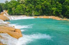 Agua Azul siklawy, Chiapas, Meksyk Fotografia Royalty Free