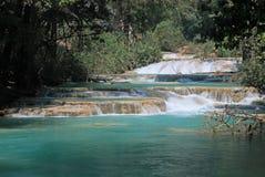 Agua Azul siklawy, Meksyk Zdjęcia Stock