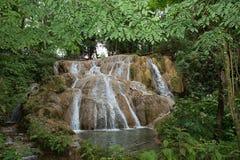 Agua Azul siklawy w Chiapas Meksyk Obraz Royalty Free