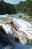Agua Azul Wasserfall auf Chiapas Stockfotos