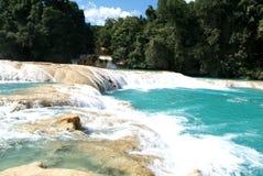 Agua Azul waterfall on Chiapas. Mexico Stock Photos