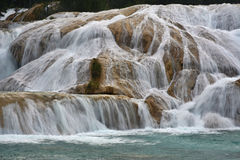 Agua Azul waterfall, Yucatan  Peninsula, Mexico. Royalty Free Stock Photography