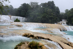 Agua Azul Waterfalls. Image of Agua Azul Blue Water Waterfalls at Chiapas Mexico stock photo