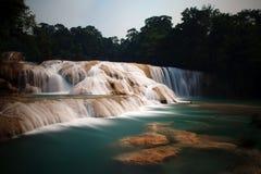 Agua Azul Waterfalls. Palenque Chiapas Waterfall. Agua Azul Waterfalls royalty free stock image