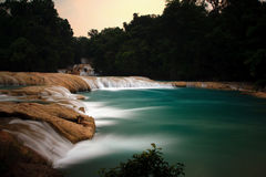 Agua Azul Waterfalls Royalty Free Stock Photo