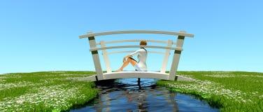 Agua bajo el puente Imágenes de archivo libres de regalías
