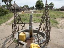 Agua bien en África Imagenes de archivo