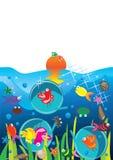 Agua Bird_eps stock de ilustración